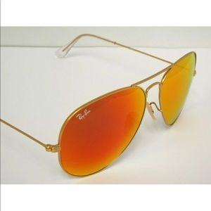New Ray ban Aviator classic gold with Red mirror